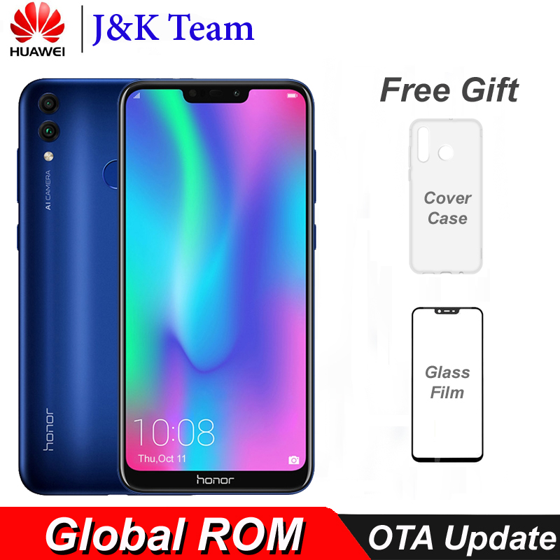 Honor 8C Global Rom 4000mAh Battery Smartphone 6.26 inch Snapdragon 632 Octa Core Dual SIM MobilePhone
