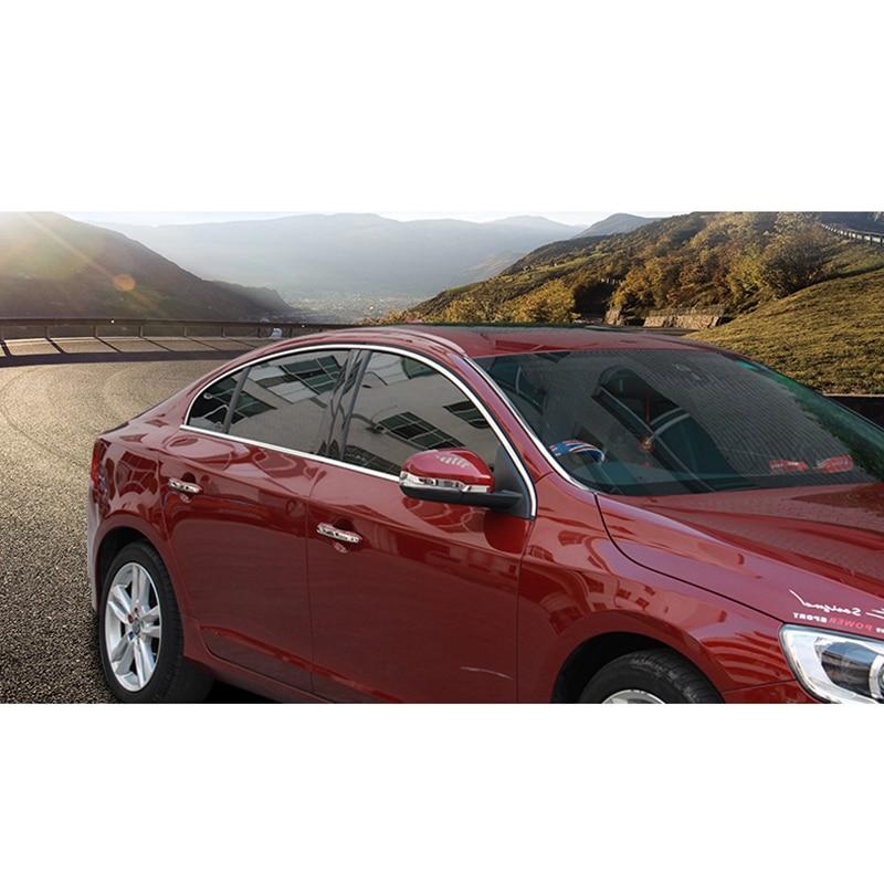lsrtw2017 304 stainless steel car window trims for volvo s60 2012 2013 2014 2015 2016 2017 2018 2011 volvo v60 2012 windshield trim