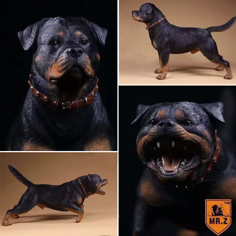 16 Realistic German Rottweiler Model Police Dog Model Military