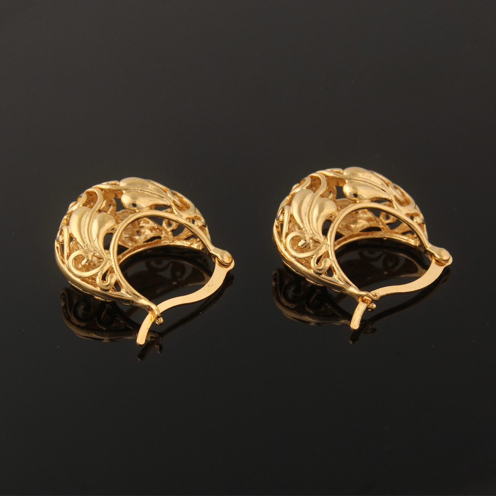 Ethlyn Ethiopian Nigeria Kenya Ghana African Basket Design Earrings Gold Color Fashion For Women In Hoop From Jewelry Accessories On