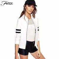Brief Patchwork Sleeve Autumn Winter Women Basic Coats Jacket 2016 New Long Sleeve Baseball Jacket Outwear