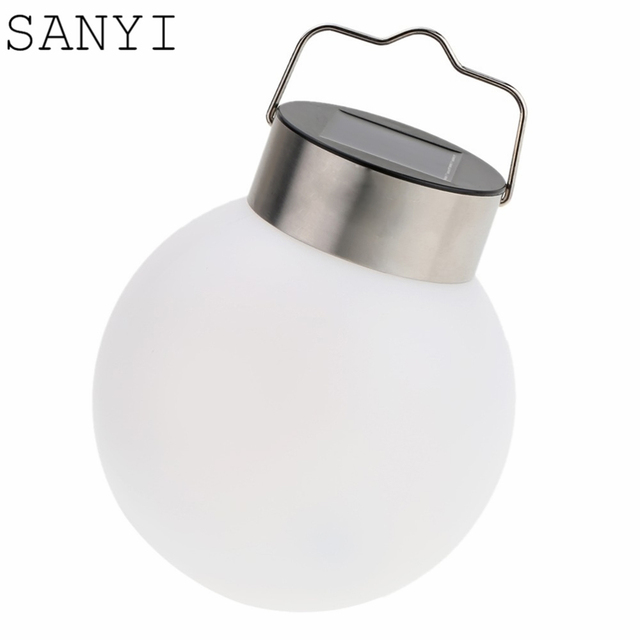 SANYI Solar Powered Hanging Lights Ball Shape White Outdoor Solar Lamp Waterproof led Lawn Tree Light Garden Yard Decor