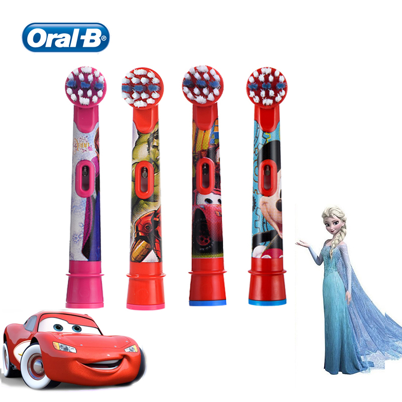 Oral B EB10 Kids Brush Heads 4 Pcs Stages Power Replacement Extra Soft Bristles for Most Oral B Children Electric Toothbrushes image