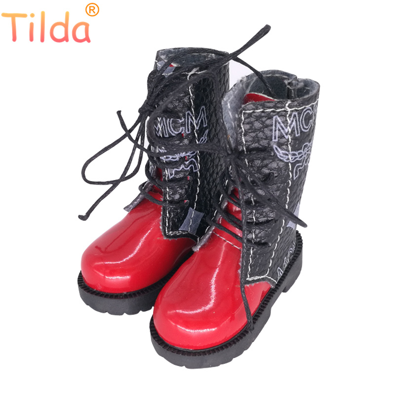 Tilda 7cm Length 1/3 BJD Doll Toy Shoes,Lovely Mini Real Life Leather Short Boots for Dolls High Quality Doll Accessories Toys цена и фото