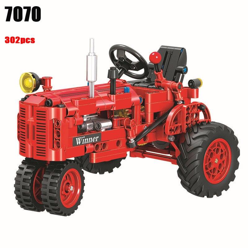 Winner 7070 302pcs Technic Classical Classic Old Tractor building block DIY Educational Brick Toys for children Funny Gift сумка latuc seed ku11 7070 ku11 7070