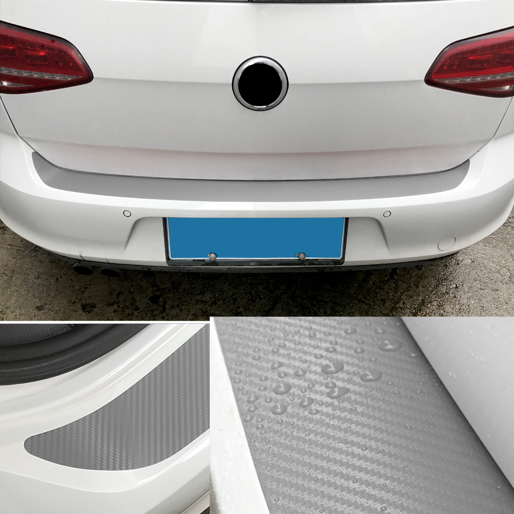 New Car Front Rear Door Sill Guard Protector Scratch /& Scuff Prevention Silver