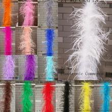 Gyönyörű 2 m 1 szalag természetes Strassz tollak Boa Minőség bolyhos jelmezek / Trim a párt / jelmez / kendő / rendelkezésre álló