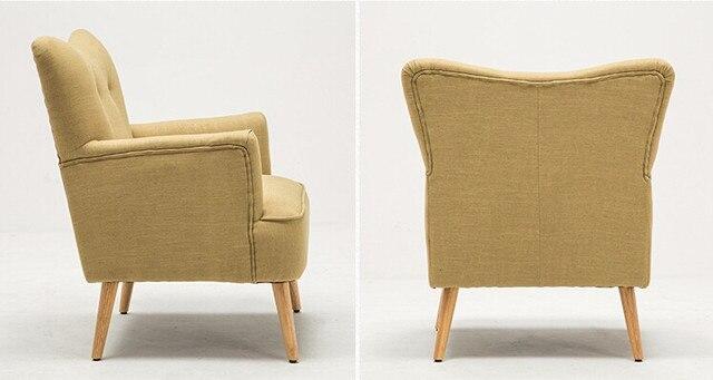 Moderne Sessel Stuhl Holz Bein Home Möbel Wohnzimmer Stühle Schlafzimmer  Freizeit Flügel Stuhl Design Polster Accent Sessel