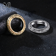 SG HOT SILVER & GOLD Astronomical Sphere Ball Ring Complex Rotating Cosmic Constellations Finger for Lover Jewelry gifts