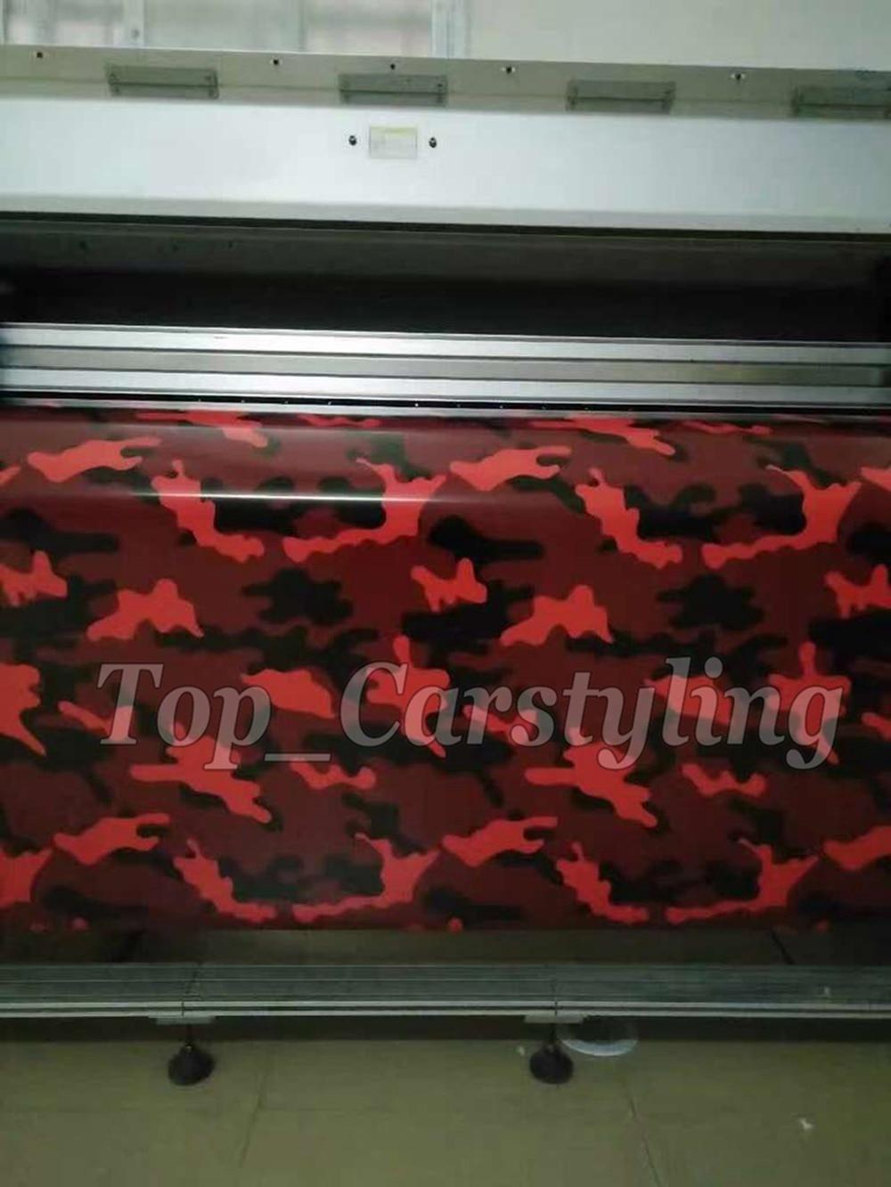 Red snow ubran Camo Vinyle Sticker Camouflage Vinil Film With Bubble Auto Body Sticker Wrap Foile size 1.52x 5m/ 10m / 20m / 30m
