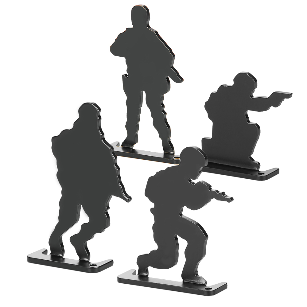 Metal Airsoft Shooting Target 4 Posture Army Style (4pcs/pack) Paintball Accessories For Practicing/ Airsoft/Shooting PP36-0020