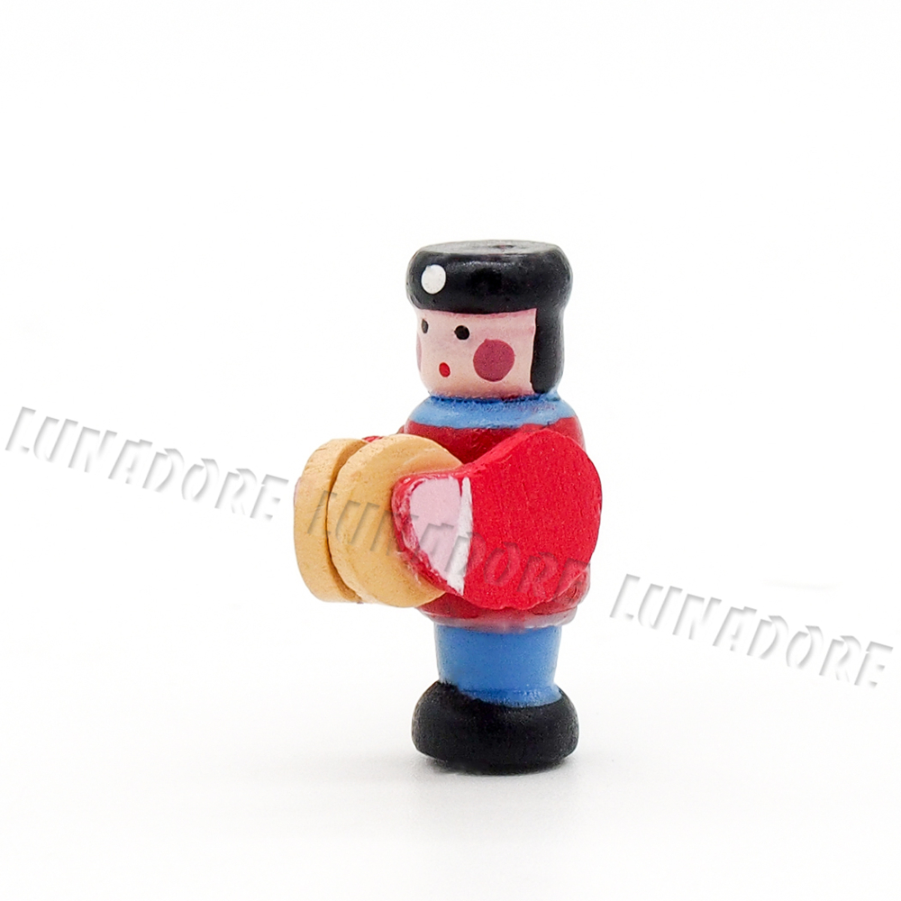 4PCS Wooden Soldier Marching Band Figure 1:12 Dollhouse Miniature Decor Gift New