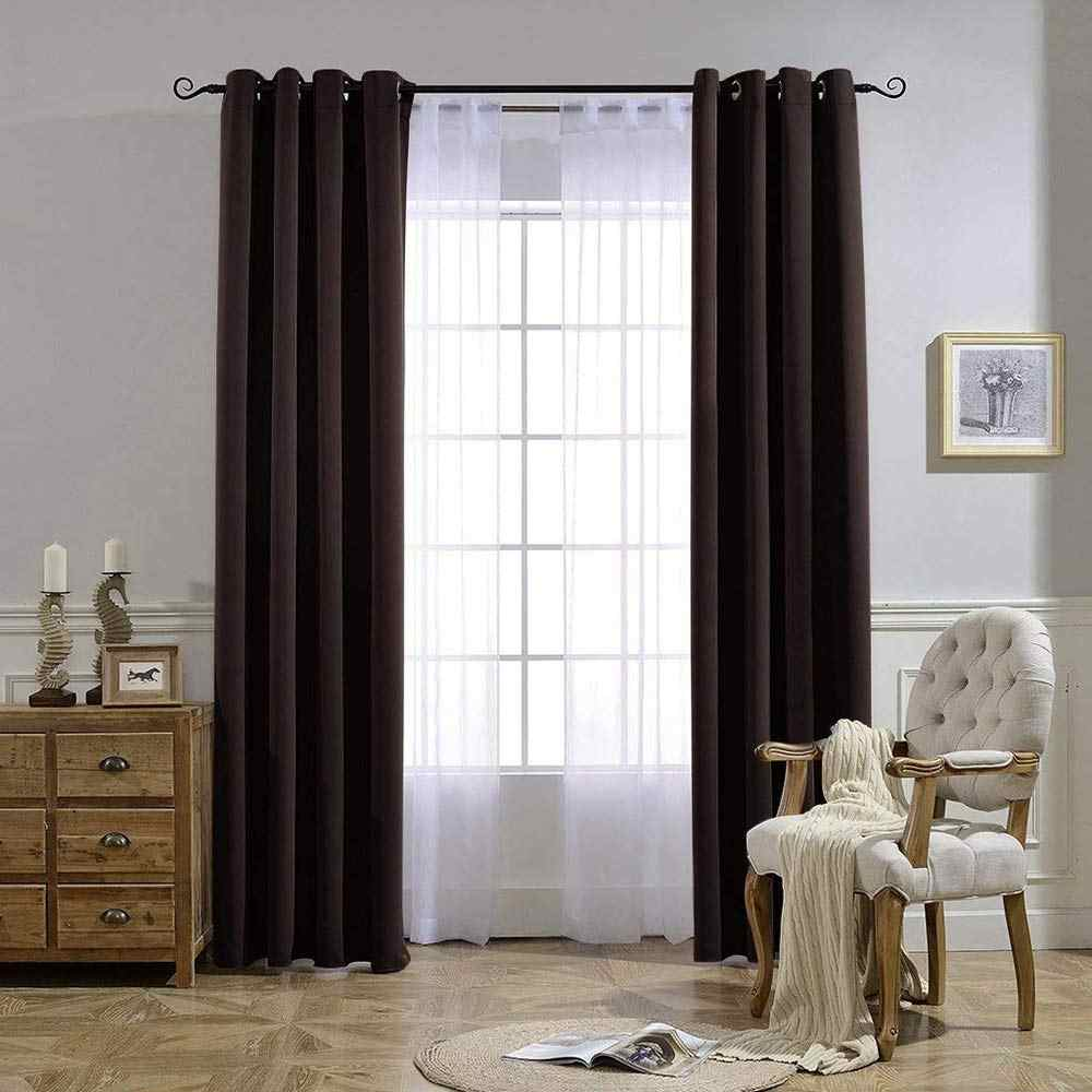 Solid Blackout Curtains For Living Room Bedroom Window Treatment