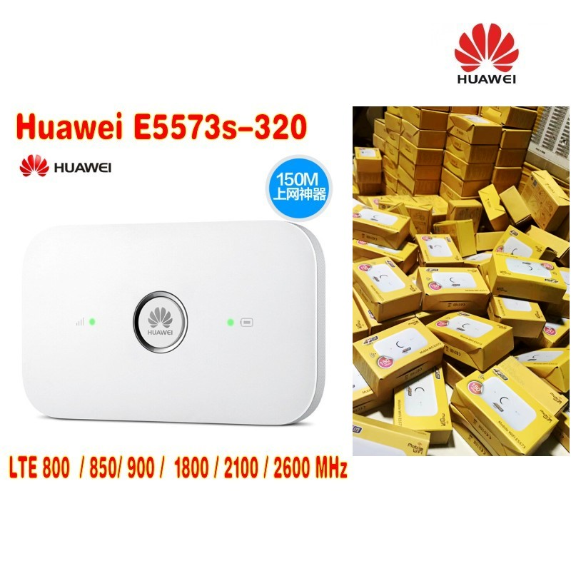 Lot Of 100pcsunlocked Huawei E5573 4g Lte 4g Wifi Router E5573S-320 150Mbps 3g 4g Wireless 4G LTE Fdd Band Pk E5577 E5372 E5577s