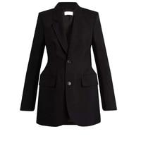 black blazer women office coat jacket spring autumn wedding