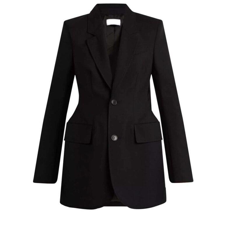 Black custom Mariage Noir Blazer Femmes De Made Veste Printemps Bureau Manteau Automne hQdtsr