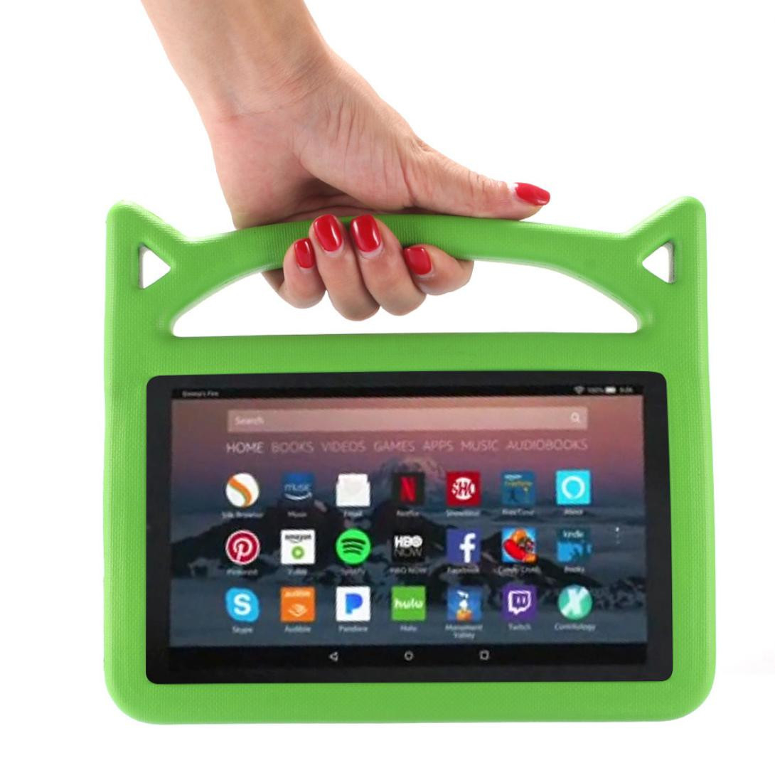 For Amazon Kindle Fire HD 8 2018 8th Gen Kids Safe EVA Rubber Handle Stand Case General Purpose Tablet Case