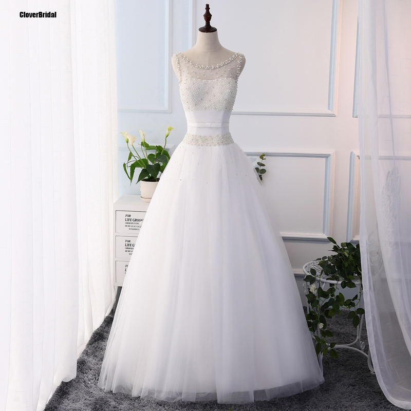 Us 145 0 Large Quantity Pearls China Bridal Gowns White Illusion Neckline Cheap Wedding Dresses Imported China Online Store Ball Gown In Wedding