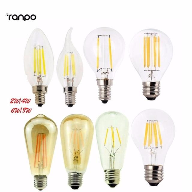 Dimmbar E12 E27 E14 G45 A60 Led lampe Licht Edison Retro Vintage ...