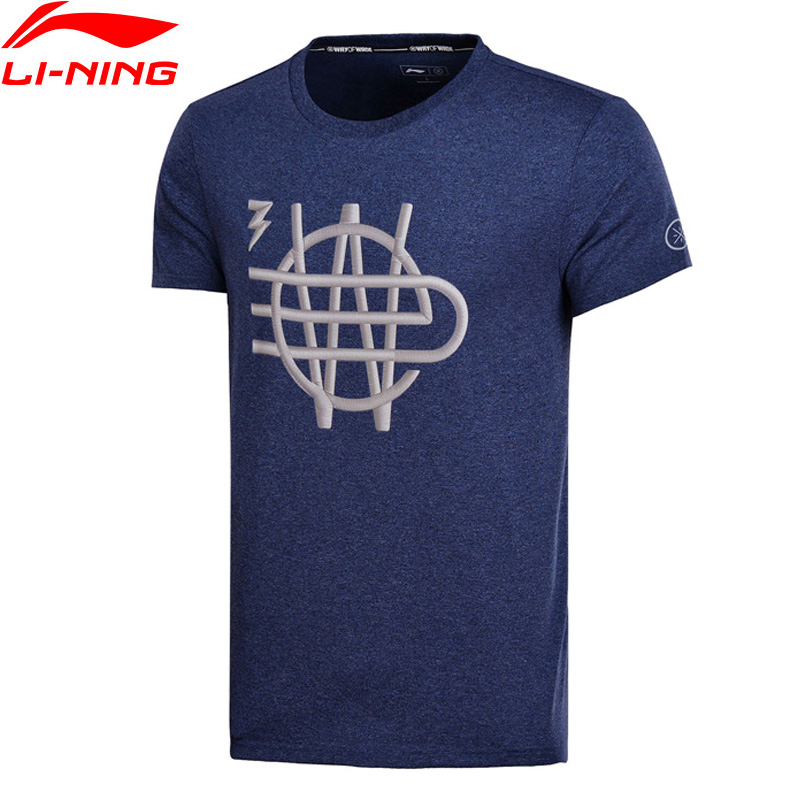 (Clearance)Li-Ning Men Wade Series Jerseys 65% Cotton 35% Polyester Regular Fit LiNing Sports T-Shirt Tee AHSN013 MTS2720