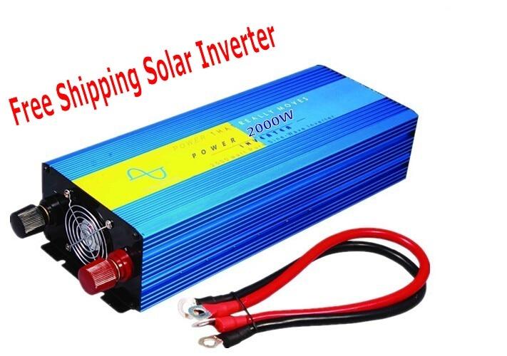 Pure sine wave inverter 2000W 110/220V 48/96VDC, CE certificate, PV Solar Inverter, Power inverter, Car Inverter Converter