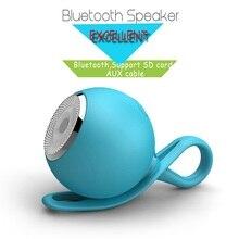 Круглый Мини Портативный Беспроводной Bluetooth стерео Surrond сабвуфер Совместимость Micro SD Водонепроницаемый Динамик MP3 плеер для смартфонов