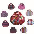 Lancheira duplas neoprene térmica lunch bag para as mulheres crianças lunchbags ALB3 sacola com zíper refrigerador lancheira saco térmico almoço