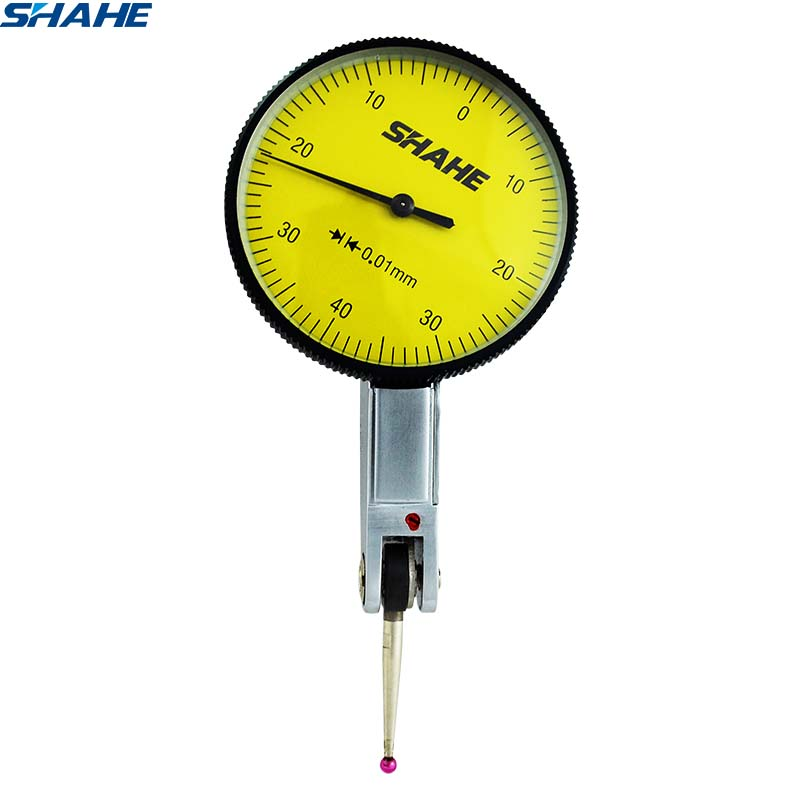 shahe precision tools  0-0.8 mm 0.01 mm  metric dial test indicator with Red jewel metric measuring dial indicator