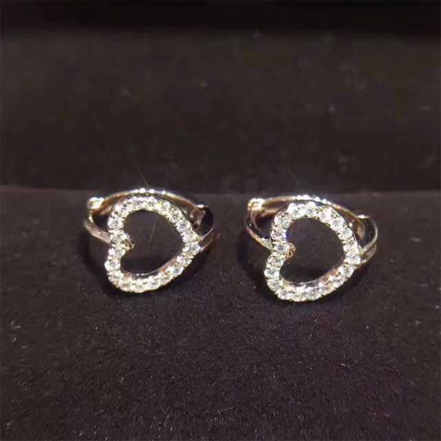 Ani 18k White Rose Gold Women Circle Earrings Certified I Si Real Natural Diamond