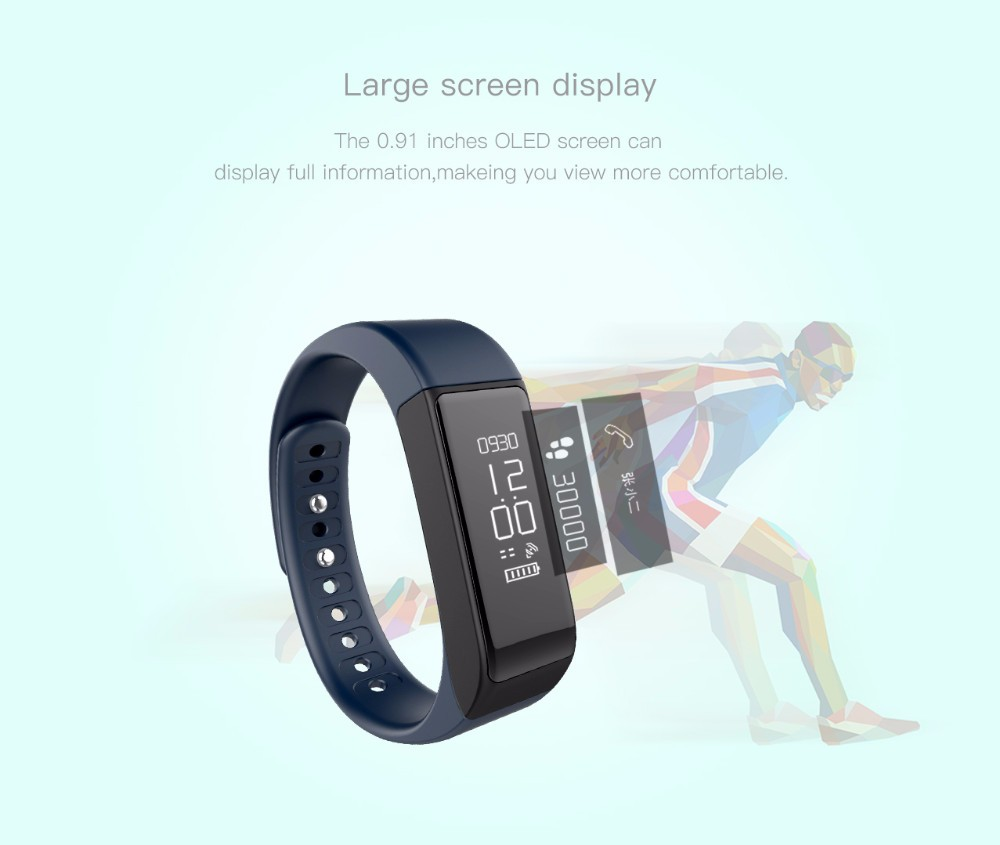 Original Iwown i5 Plus Smart Bracelet Wristband Bluetooth 4.0 Activity Tracker Waterproof SmartBand Passometer Sleep Monitor 7