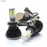 2Pcs G5 LED COB Headlight Bulbs Conversion Kit All in one 80W 9600LM H7 6000K Ivory White With CanBUS (Error free decoder)