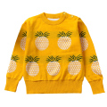 QUIKGROW Soft Cotton Pineapple Fruit Infant Baby Girl Boy Sweater Long Sleeve Yellow White Spring Autumn Pullover Jumpers YM24MY