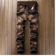Новый высокое качество мужские джинсы Повседневное прямые джинсы мужские balmai джинсы мужские джинсовые штаны джинсы masculina(China)