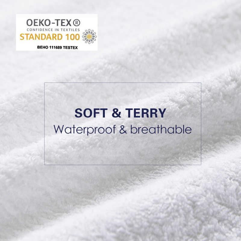 Terry Wasserdichte Größe 160X200cm Bett Wasserdichte Abdeckung Matratze Schutz Abdeckung für Bettnässen und Bett Bug Anzug für Russische Größe