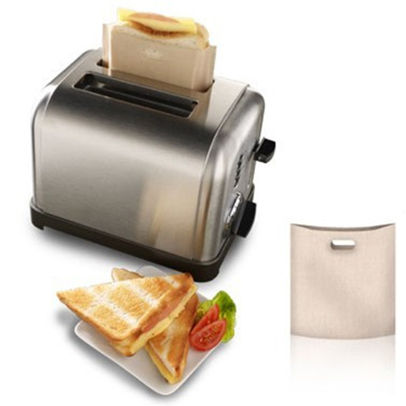 QuickDone 5PCS/LOT Toast Sandwich Fries Heating Bags Non Stick Reusable Heat-Resistant Toaster Bags Kitchen Accessories KC1635