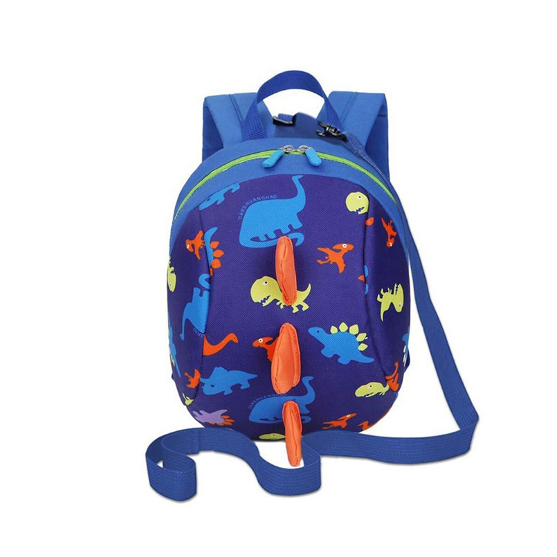 Outdoor Camping Trip Cute Cartoon Dinosaur Safety Anti Lost Strap Rucksack With Reins Oxford Cloth Climbing Bag