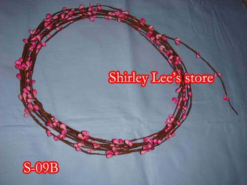 50pcs lot 20FT Primitive single ply pip berry garland in Pink for Spring Season Decoration