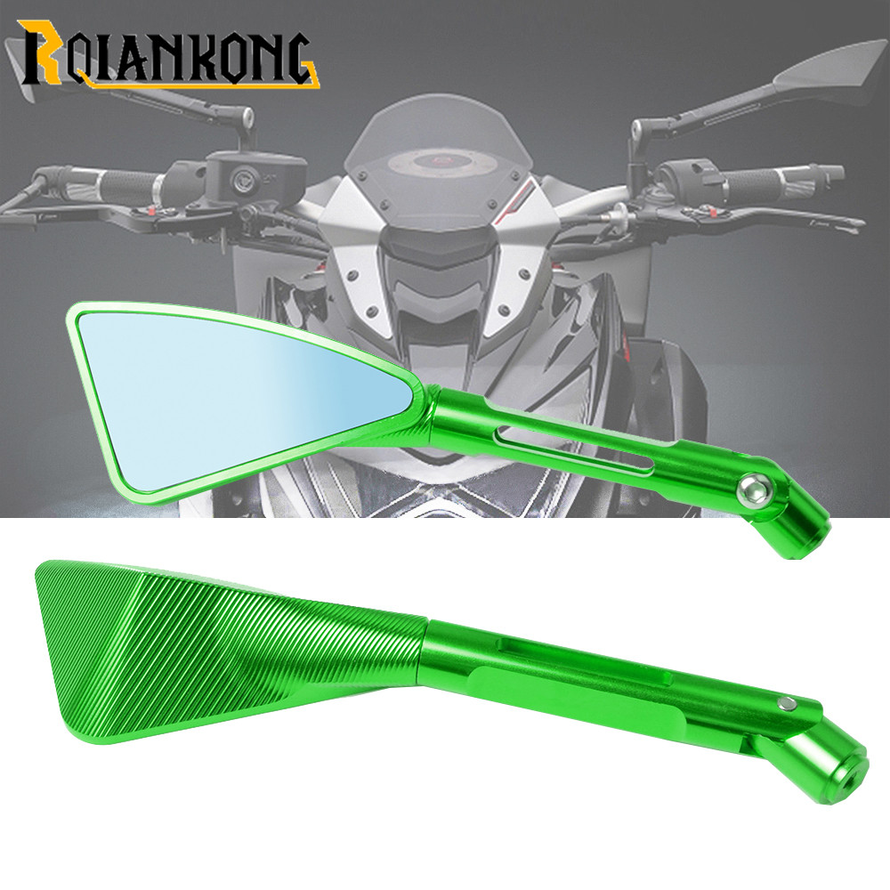 Motorcycle CNC Aluminum Rear View Mirrors For <font><b>Kawasaki</b></font> Z900 <font><b>Z900RS</b></font> Z800 Z1000 Motorbike <font><b>Accessories</b></font> rearview Side mirror image