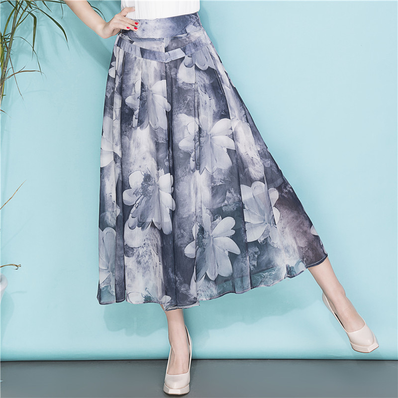 XXXXL Women   Wide     Leg     Pants   Loose Skirt   Pants   2018 Female High Waist Summer   Pants   for women Thin Section Trousers Ladies Clothing