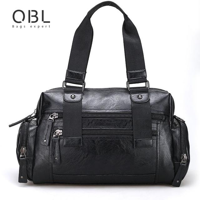 2017 Bolsas Tote Bag Crossbody Do Messenger Bolsas de Ombro Dos Homens para Viagens a Negócios Bolsa Masculina Black Brown MBA11 Sacoche Homme