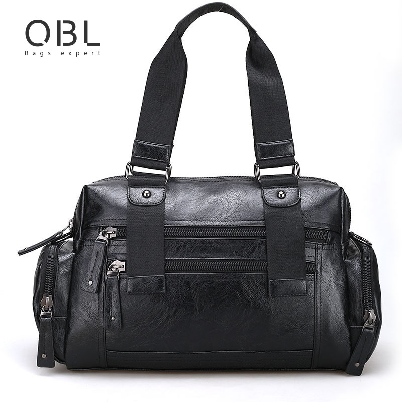 QiBoLu 2017 Handbags Men Tote Bag Crossbody Messenger Shoulder Bags for Travel Business Sacoche Homme Bolsa Masculina MBA11 ваза elan gallery белый шиповник 550 мл 504151