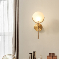 American Copper Wall Lamp Bedroom Bedside Wall Light led Bathroom Mirror Light Living Room Modern Wall Sconce Office Study Lamps