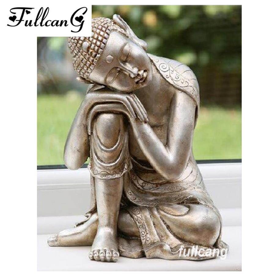 diy 5d Buddha zen mosaikmålning full square diamantmålning - Konst, hantverk och sömnad