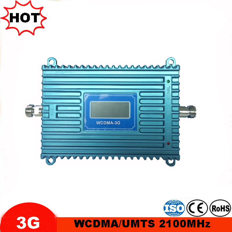 3G WCDMA 2100mhz Cellular Signal Booster LCD Display 3G UMTS Mobile Repeater 70dB Gain 3G Amplifier