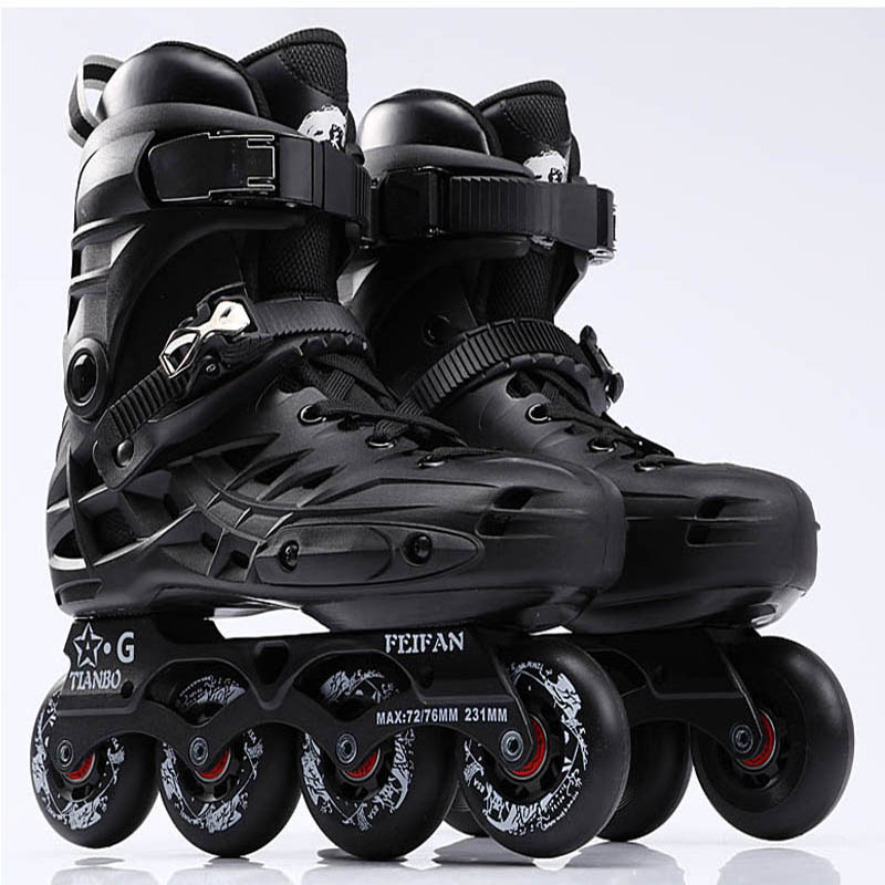 Tianbo Inline Skates Professional Slalom Roller Skating Shoes For Adult Sliding Free Skating Good Quality As SEBA Patine IA16 adult s roller skates inline skating f2 2013 white and black flying eagle f2