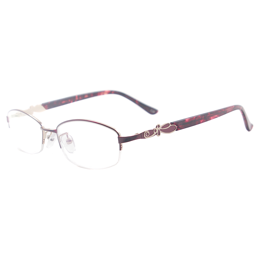 994697b453 Colourful Eyeglass Frame Women Small Metal Oval Half Rim Spectacles For  Multifocal Reading Lenses-in Eyewear Frames from Apparel Accessories on ...