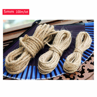 Wholesale(5mm,100m/lot) Diy Natural Hemp Rope cord,Flax Rope,Jute Cord,Hemp Twine,kraft string,Hang tag jute string