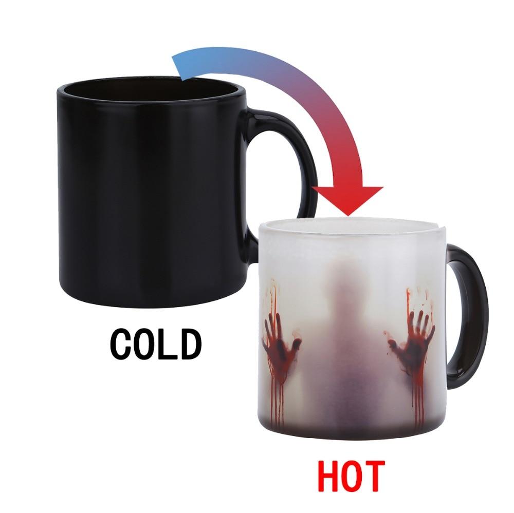 Transhome Farbwechsel Becher 300 ml Wärme Sensitive Keramik Kaffee Becher