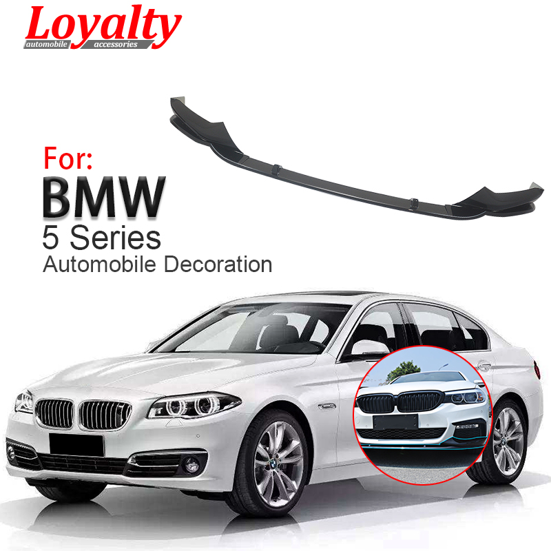 Us 179 55 5 Off Loyalty For 2017 2018 Bmw 5 Series G30 M Performance Style Front Bumper Lip Spoiler Gloss Black Car Styling Auto Accessories In