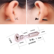 Gothic Punk Style Unisex Stainless Steel Stud Earrings
